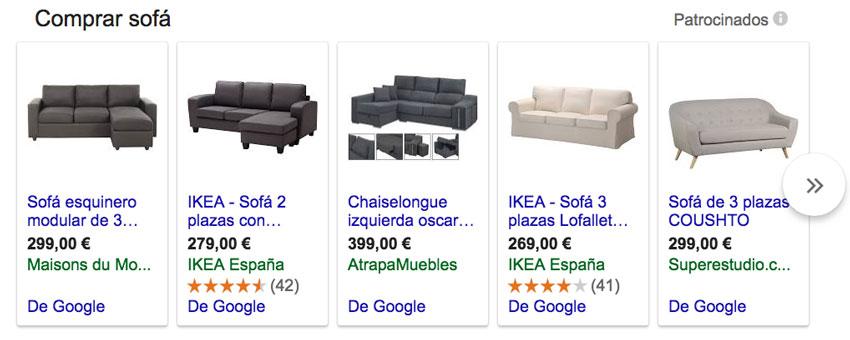 ejemplo google shopping