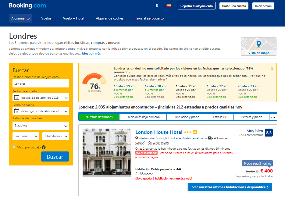 estrategia growth hacking booking