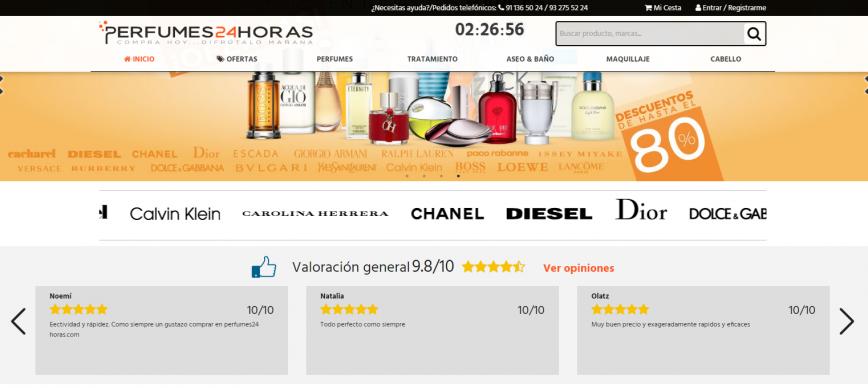 valoracion perfumes 24h