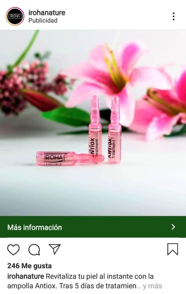 instagram ads con foro y CTA