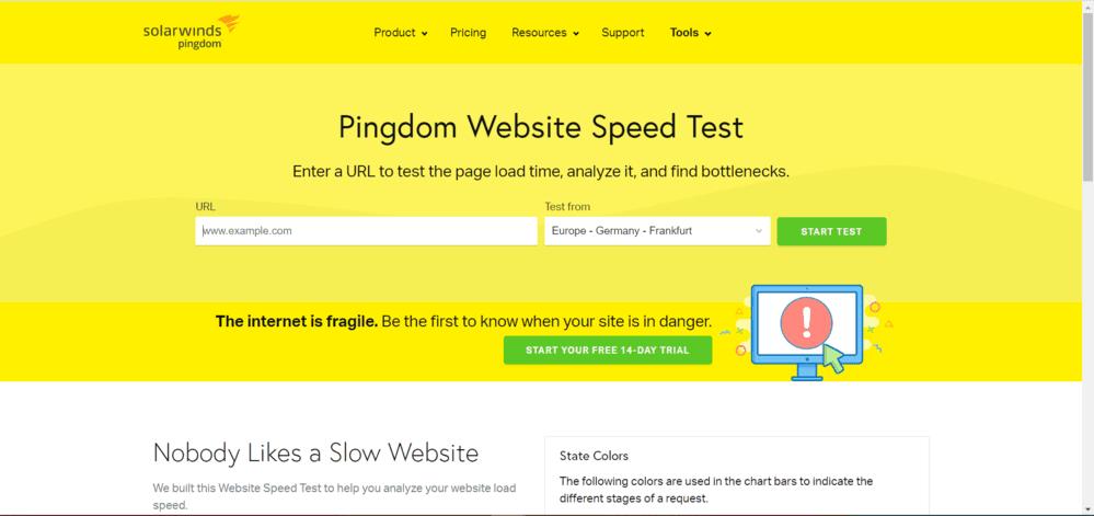 velocidad web